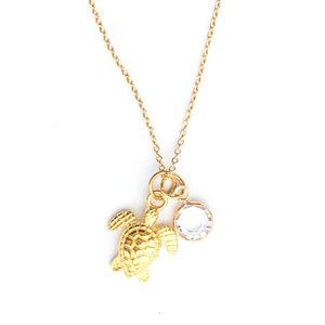 Turtle & Crystal Necklace